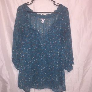 Old Navy beautiful sheer 3/4 sleeves top Sz XL ❤️